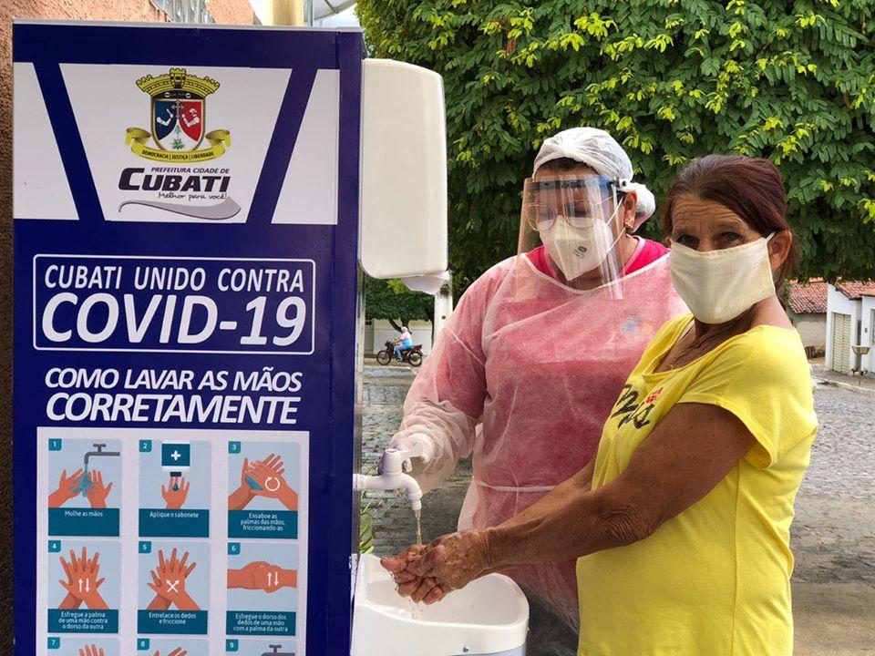 Prefeitura de Cubati instala lavatórios de mãos nas Unidades de Saúde do município