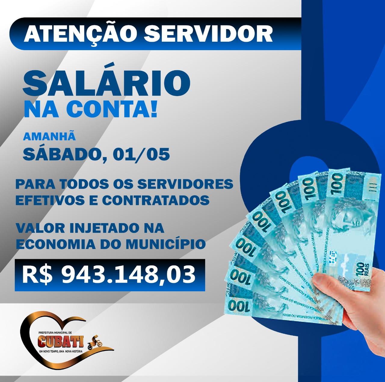 Prefeitura de Cubati paga salários dos servidores neste sábado (01)