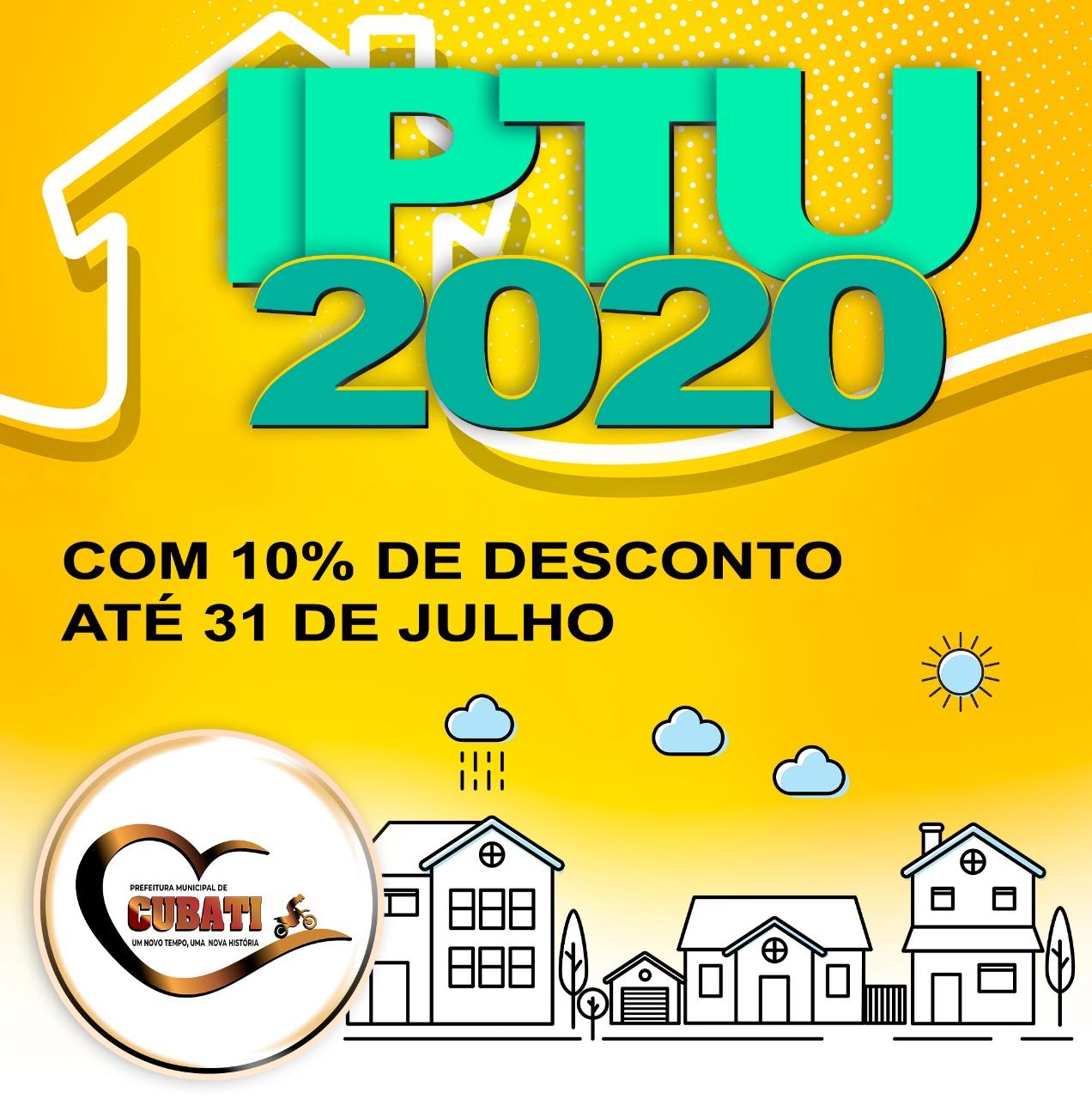IPTU 2020 pode ser pago com desconto até 10% de desconto até Julho