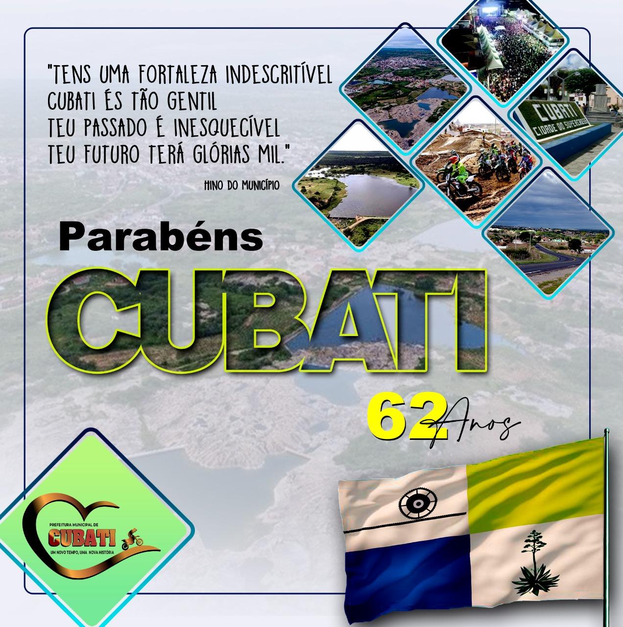 Município de Cubati comemora seus 62 anos de emancipação política